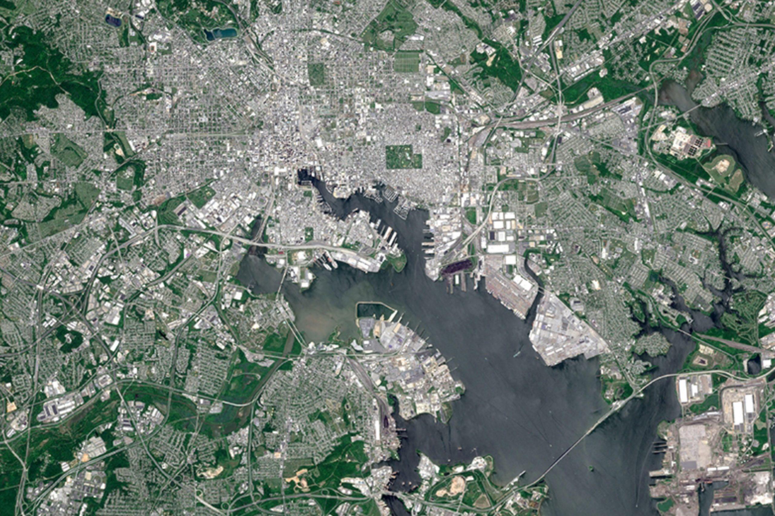 Hi Res Baltimore Satellite Image